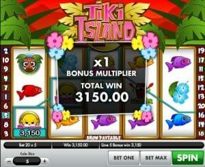 Screenshot image of Tiki Island Slot game