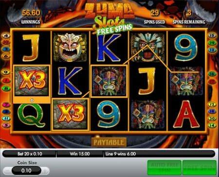 Screenshot image of Zuma slots game free spins