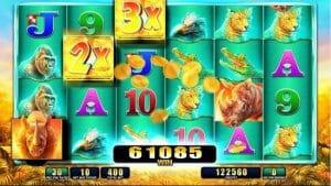 Screenshot image of the Raging Rhino slot game