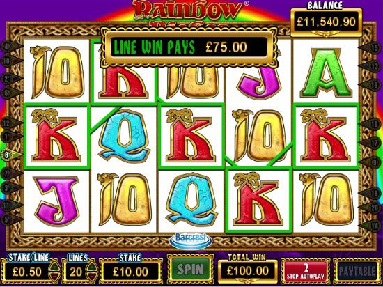 Screenshot image of the Rainbow Riches slots game