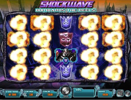 Screenshot image of the Bombards Feature in Transformers slots