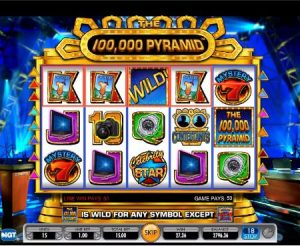 Screenshot image of 100,000 Pyramid slot machine from IGT