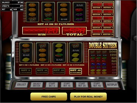 Screenshot image of the Double Sixteen slot game