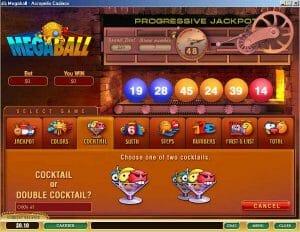 Screenshot image of Mega Ball slot progressive Jackpot game