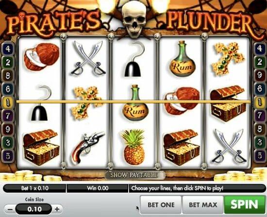 Pirates Plunder slot machine game