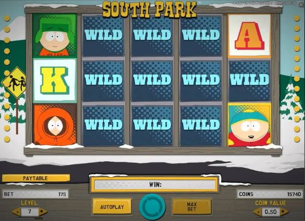 Screenshot image of south park slot free spins