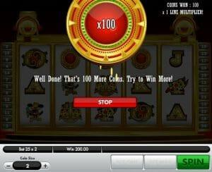 Screenshot image of Fortune Temple slot bonus game