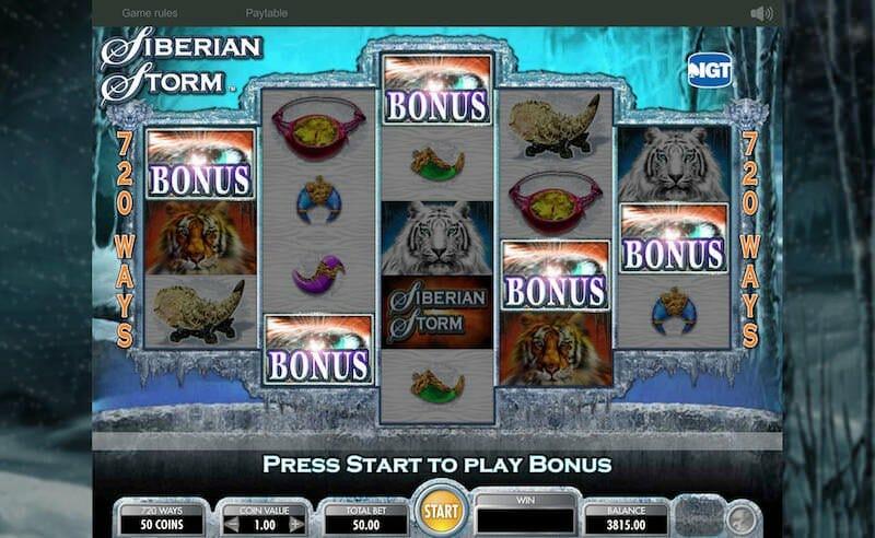 Screenshot image of Siberian Storm slot machine bonus symbol