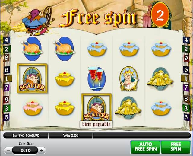 Screenshot image of Spinning for Gold slots Free Spins bonus activated