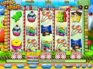 Screenshot image of Sugar Train slot machine game