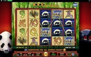 Screenshot image of 100 Pandas slot 1400wild win