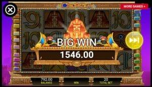 Cleopatra slot screenshot image