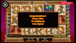 Cleopatra Slot More Free Spins