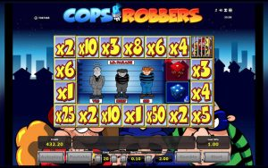 Cops and Robbers slot screenshot image