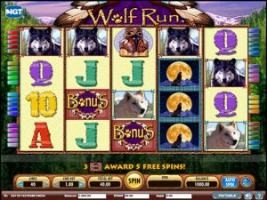 Screenshot image of wolf run slot bonus