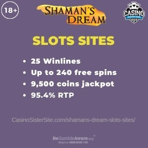 Featured image for the Casino Sites with Shamans Dream article