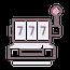 Online slot machines icon graphic