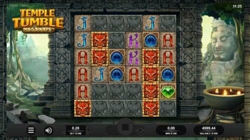 Screenshot of Temple Tumble Megaways.