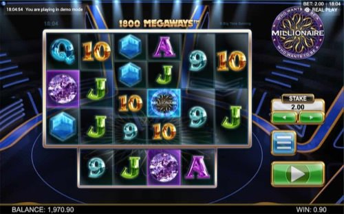 Screentshot image of Who Wants to Be A Millionaire Megaways Slot