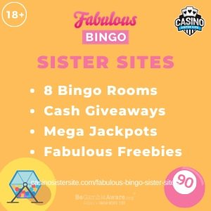 "Featured image for the sister sites article showing the brand's logo and the text: ""8 Bingo Rooms. Cash Giveaways. Mega Jackpots. Fabulous Freebies."""