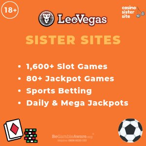Leo Vegas Sister Sites banner