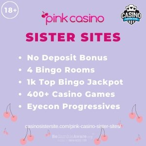 """Featured image for the sister sites article showing the brand's logo and the text: """"No Deposit Bonus. 4 Bingo Rooms. 1k Top Bingo Jackpot. 400+ Casino Games. Eyecon Progressives."""""""