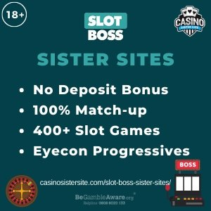 "Featured image for the sister sites article showing the brand's logo and the text: ""No Deposit Bonus. 100% Match-up Bonus. 400+ Slot Games. Eyecon Progressives."""