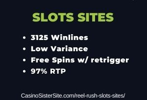 Reel Rush slots sites - Free spins & re-spin feature 2