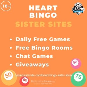 "Featured image for the Heart Bingo sister sites article showing the brand's logo and the text: ""Daily Free Games. Free Bingo Rooms. Chat Games. Giveaways."""