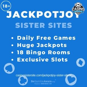 Jackpotjoy Sister Sites Get 50 30 Spins Bonus Updated