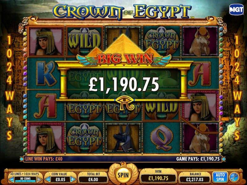 Screenshot of Crown Egypt slot