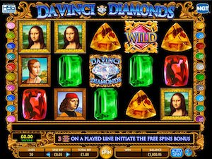 Screenshot of Da Vinci Diamonds slot