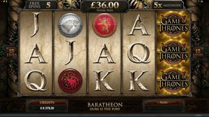 Screenshot iamge of Game of Thrones slot