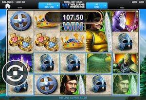 Screenshot of Lancelot slot