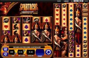 Screenshot of Spartacus slot