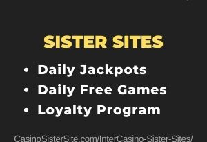 InterCasino sister sites - Play daily free games & jackpots. 3