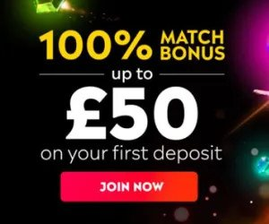 Image of the Regal Wins promotion: 100% Match Bonus up to £50 on your first deposit.