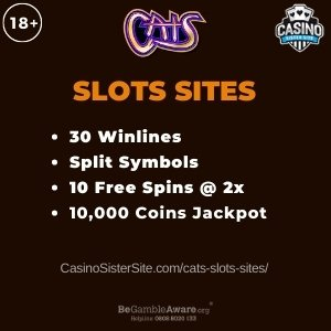 Cats Slots Sites - Play with 100 free spins bonus. 2