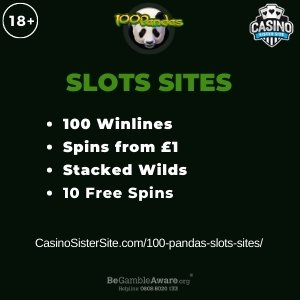 100 Pandas slots sites - Play with 100 lines, stacked wilds and free spins 1