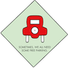 Icon image of daily free parking feature