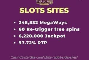White Rabbit slots sites - Get €300 free bonus + 200 spins. 3