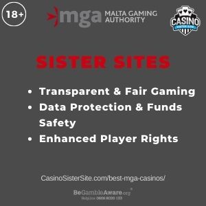 """Banner image for Best MGA Casinos article with text """"Transparent & Fair Gaming. Data Protection & Funds Safety. Enhanced Player Rights."""""""