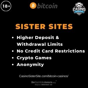 """Banner image for Bitcoin Casinos article with text """"Highet Deposits & Withdrawals Limits. No Credit Card Restrictions. Crypto Games. Anonymity."""""""