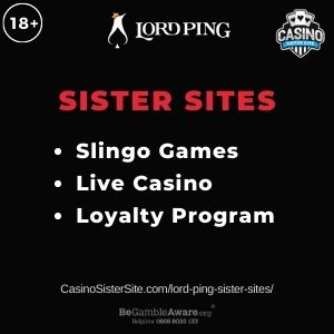 "Banner Image for Lord Ping Sister Sites article with text ""Slingo Games. Live Casino. Loyalty Program."""