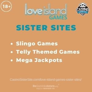 """Banner image for Love Island Games sister sites article with text """"Slingo Games. Telly Themed Games. Mega Jackpots."""""""