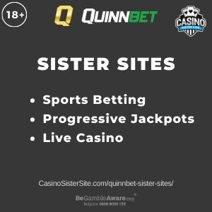 """Banner image for Quinnbet sister sites with text """"Sports Betting. Progressive Jackpots. Live Casino."""""""