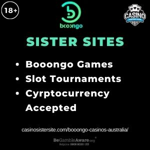 """Feature image for Booongo Casinos Australia with text Booongo Games. Slots Tournaments. Cryptcurrency Accepted."""""""