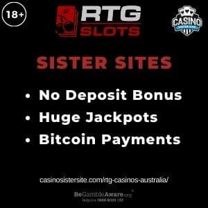 "Feature image for RTG Casinos Australia article with text ""No Deposit Bonus. Huge Jackpots. Bitcoin Payments""."