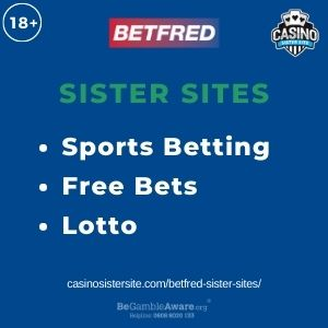 """Feature image for BetFred Sister Sites article with text: """"Sports Betting. Free Bets. Lotto """""""