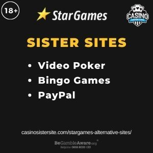 """Feature Image for Stargames Alternative Sites article with text """"Video Poker. Bingo Games. PayPal"""